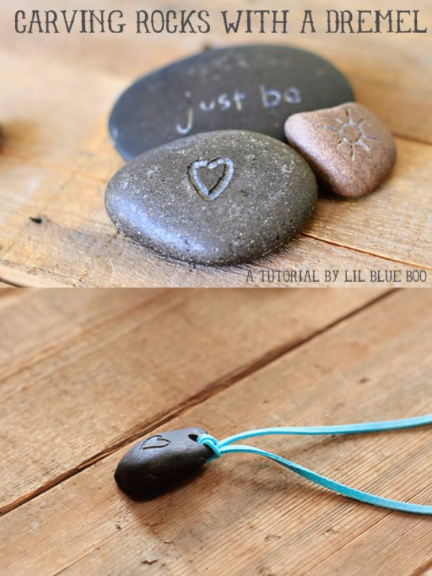 Easy Crafts To Make and Sell - Dremel Carved Rocks - Cool Homemade Craft Projects You Can Sell On Etsy, at Craft Fairs, Online and in Stores. Quick and Cheap DIY Ideas that Adults and Even Teens #craftstosell #diyideas #crafts