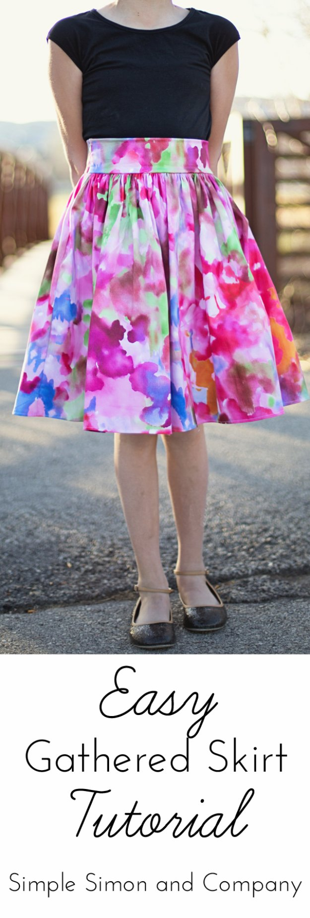 DIY Sewing Projects for Women - Easy Gathered Skirt Tutorial - How to Sew Dresses, Blouses, Pants, Tops and Fashion. Step by Step Tutorials and Instructions #sewing #fashion