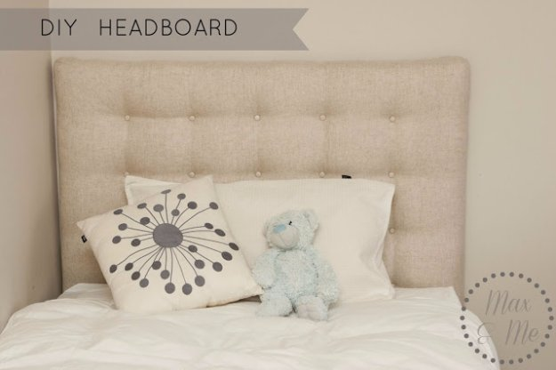DIY Headboard Ideas - Easy Linen and Poplin Headboard Tutorial - Easy and Cheap Do It Yourself Headboards - Upholstered, Wooden, Fabric Tufted, Rustic Pallet, Projects With Lights, Storage and More Step by Step Tutorials #diy #bedroom #furniture