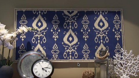 Brilliant DIY Fabric Wall Art Pottery Barn Inspired!