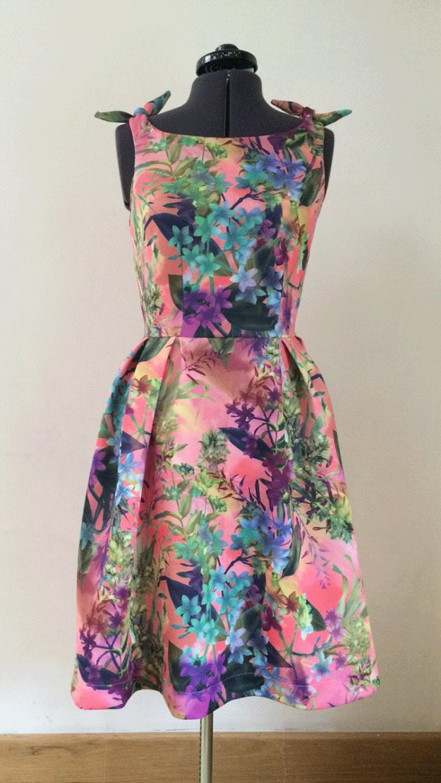 DIY Sewing Projects for Women - Flamingo Dress With Knotted Shoulders DIY - How to Sew Dresses, Blouses, Pants, Tops and Fashion. Step by Step Tutorials and Instructions #sewing #fashion