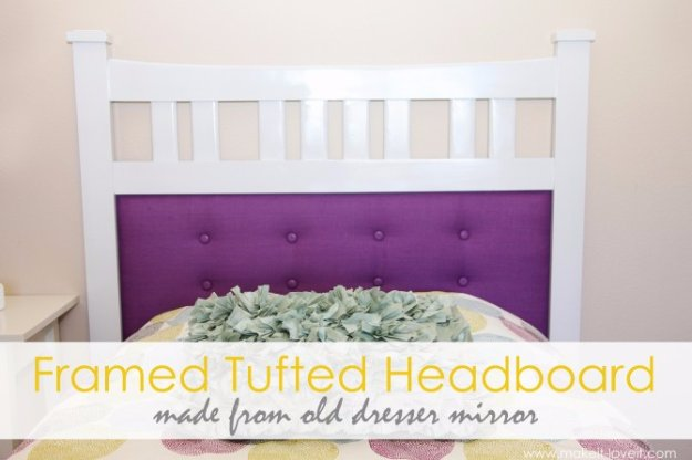 DIY Headboard Ideas - Framed Tufted Headboard - Easy and Cheap Do It Yourself Headboards - Upholstered, Wooden, Fabric Tufted, Rustic Pallet, Projects With Lights, Storage and More Step by Step Tutorials #diy #bedroom #furniture