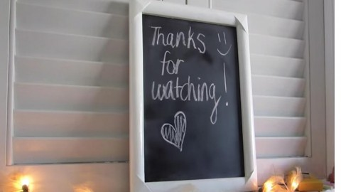 Homemade Chalkboard…Simple Craft Project! | DIY Joy Projects and Crafts Ideas