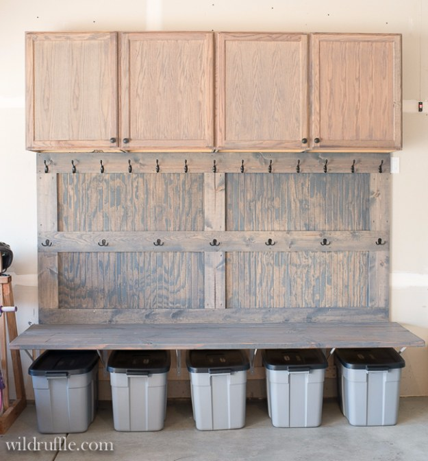 DIY Projects Your Garage Needs -Garage Mudroom DIY - Do It Yourself Garage Makeover Ideas Include Storage, Organization, Shelves, and Project Plans for Cool New Garage Decor #diy #garage #homeimprovement