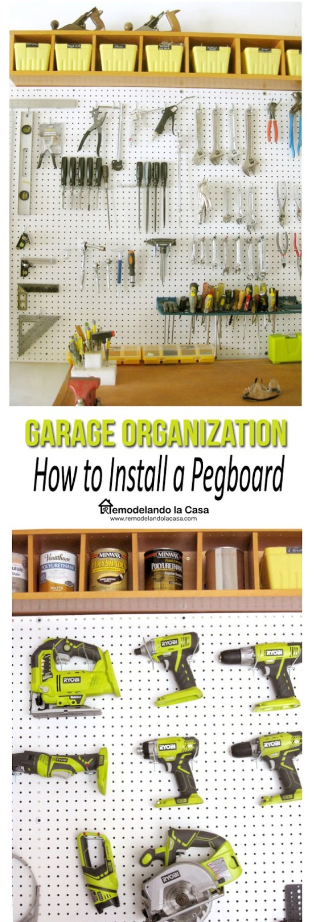 DIY Projects Your Garage Needs -Garage Pegboard Tutorial - Do It Yourself Garage Makeover Ideas Include Storage, Organization, Shelves, and Project Plans for Cool New Garage Decor #diy #garage #homeimprovement