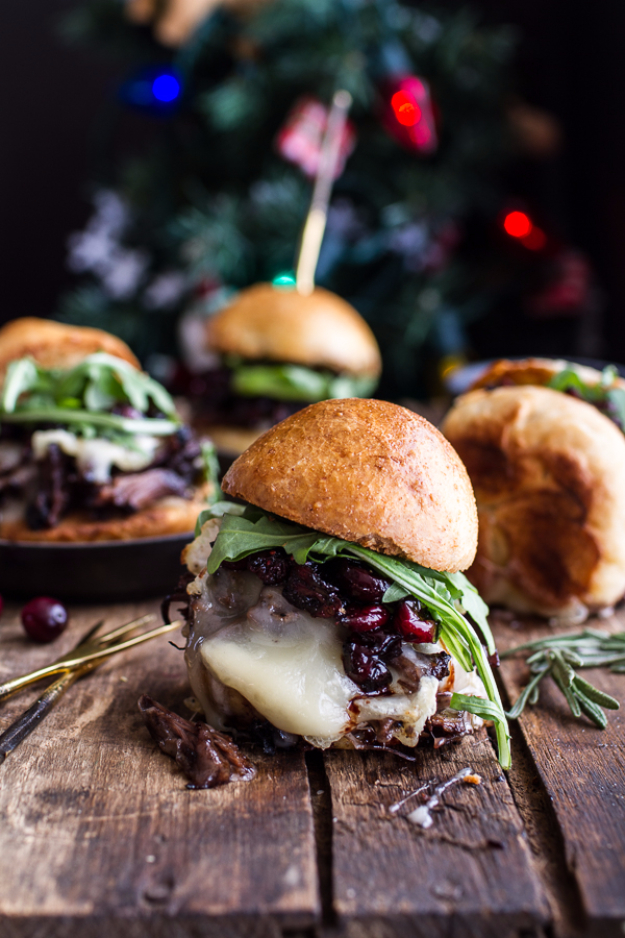 Best Fourth of July Food and Drink Ideas - Gingery Steak And Brie Sliders With Balsamic Cranberry Sauce - BBQ on the 4th with these Desserts, Recipes and Ideas for Healthy Appetizers, Party Trays, Easy Meals for a Crowd and Fun Drink Ideas