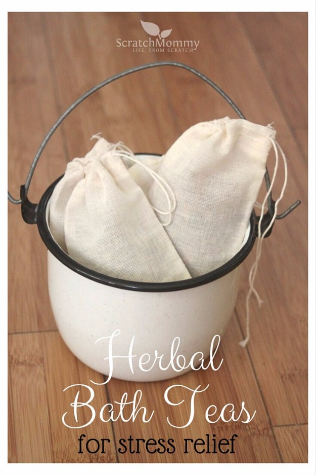Easy Crafts To Make and Sell - Herbal Bath Teas - Cool Homemade Craft Projects You Can Sell On Etsy, at Craft Fairs, Online and in Stores. Quick and Cheap DIY Ideas that Adults and Even Teens #craftstosell #diyideas #crafts