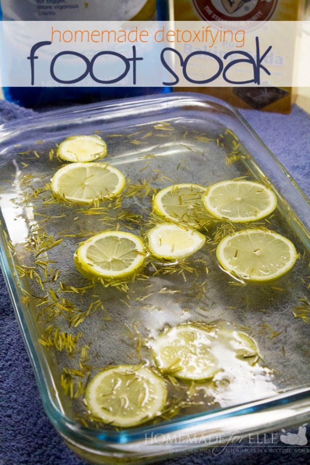 DIY Detox Recipes, Ideas and Tips - Homemade Detoxifying Foot Soak - How to Detox Your Body, Brain and Skin for Health and Weight Loss. Detox Drinks, Waters, Teas, Wraps, Soup, Masks and Skincare Products You Can Make At Home