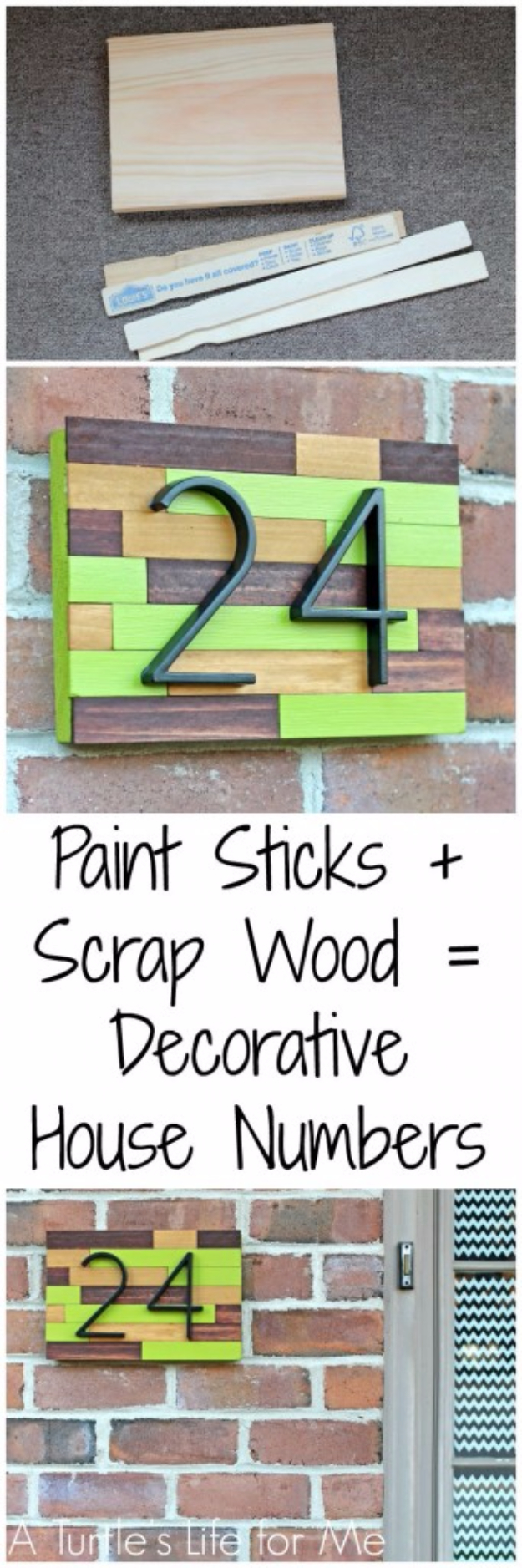 Creative Ways to Increase Curb Appeal on A Budget - House Number Plaque DIY - Cheap and Easy Ideas for Upgrading Your Front Porch, Landscaping, Driveways, Garage Doors, Brick and Home Exteriors. Add Window Boxes, House Numbers