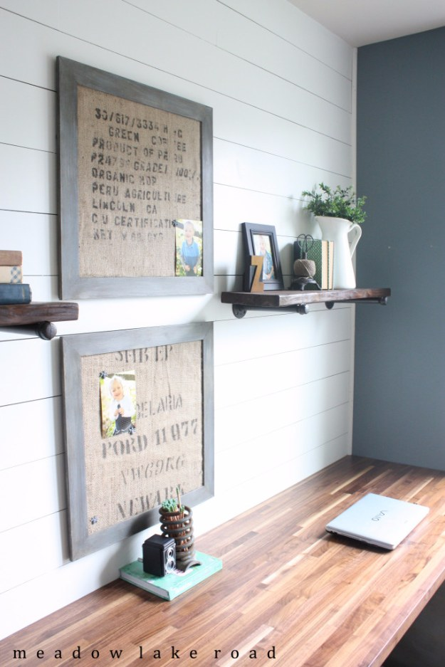 DIY Home Office Decor Ideas - Industrial Pipe Shelves For The Home Office - Do It Yourself Desks, Tables, Wall Art, Chairs, Rugs, Seating and Desk Accessories for Your Home Office #office #diydecor #diy