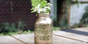 Beautiful Lace Mason Jar Full of Vintage Charm!