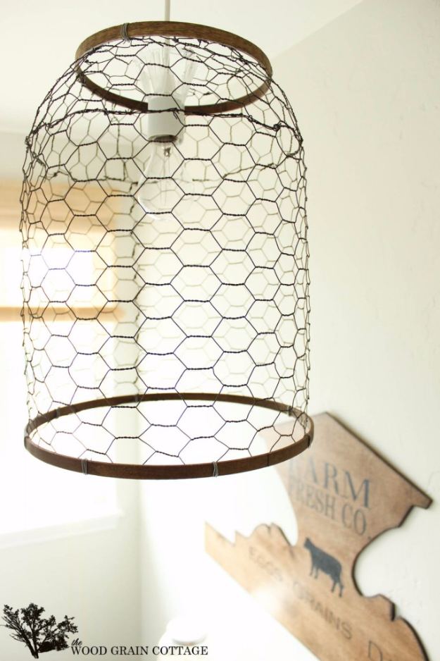 DIY Farmhouse Lighting Ideas for Rustic Home Decor- Laundry Room Farmhouse Light - Rustic Ideas for Furniture, Paint Colors, Farm House Decoration for Living Room, Kitchen and Bedroom