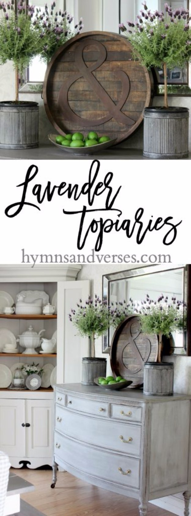 DIY Dining Room Decor Ideas - Lavender Topiaries in the Dining Room - Cool DIY Projects for Table, Chairs, Decorations, Wall Art, Bench Plans, Storage, Buffet, Hutch and Lighting Tutorials