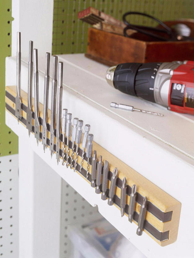 DIY Projects Your Garage Needs -Magnetic Tool Holder - Do It Yourself Garage Makeover Ideas Include Storage, Organization, Shelves, and Project Plans for Cool New Garage Decor #diy #garage #homeimprovement