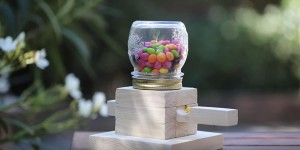 Clever Mason Jar Candy Dispenser Is Sure to Make Everybody Happy!