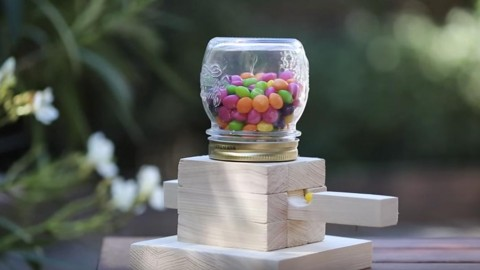 Clever Mason Jar Candy Dispenser Is Sure to Make Everybody Happy! | DIY Joy Projects and Crafts Ideas