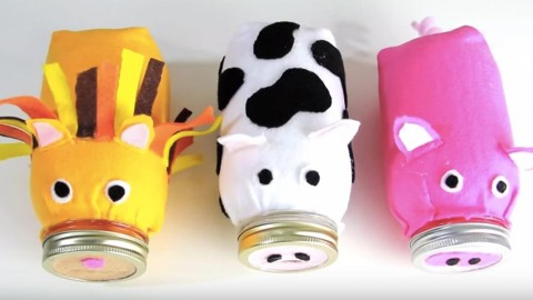 Oink All The Way To The Bank With This Mason Jar Piggy Bank! | DIY Joy Projects and Crafts Ideas