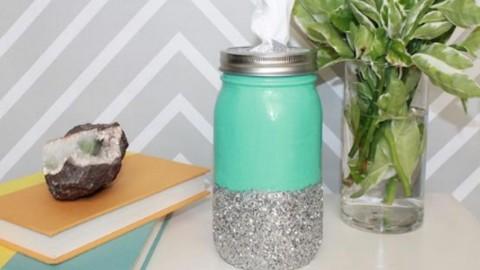 Darling Mason Jar Tissue Holder Is So Easy!   DIY Joy Projects and Crafts Ideas