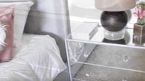 Elegant Mirrored Nightstands! Save LOTS of Money…Easy to Make! | DIY Joy Projects and Crafts Ideas