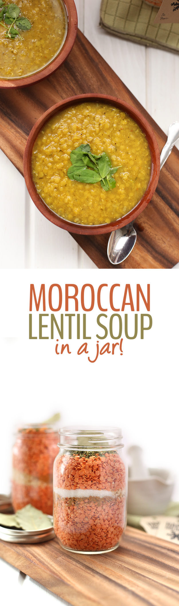 Best Recipes in A Jar - Moroccan Lentil Soup In A Jar - DIY Mason Jar Gifts, Cookie Recipes and Desserts, Canning Ideas, Overnight Oatmeal, How To Make Mason Jar Salad, Healthy Recipes and Printable Labels
