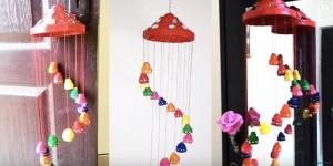 Easy DIY Festive Newspaper Wall Hanging or Wind Chimes
