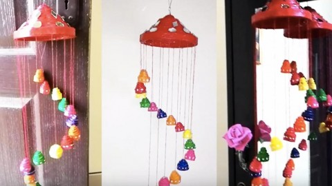 Easy DIY Festive Newspaper Wall Hanging or Wind Chimes   DIY Joy Projects and Crafts Ideas
