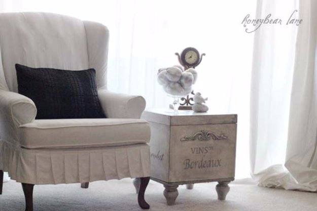 DIY End Tables with Step by Step Tutorials - Ottoman Side Table - Cheap and Easy End Table Projects and Plans - Wood, Storage, Pallet, Crate, Modern and Rustic. Bedroom and Living Room Decor Ideas #endtables #diydecor #diy