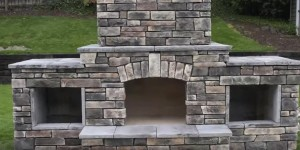 No Experience At All & All They Did Was Watch a Video to Build This Fabulous Outdoor Fireplace!