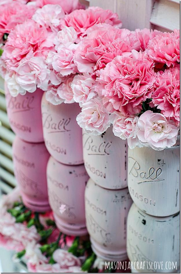 36 Brilliant Mason Jar Vases You Should Make Today