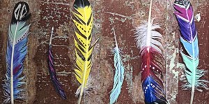Easy & Stunning Hand Painted Feathers