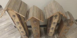 Adorable Rustic Pallet Bird Houses!