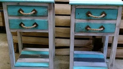Uniquely Fabulous Pallet End Tables Spiffs Up Any Decor! | DIY Joy Projects and Crafts Ideas