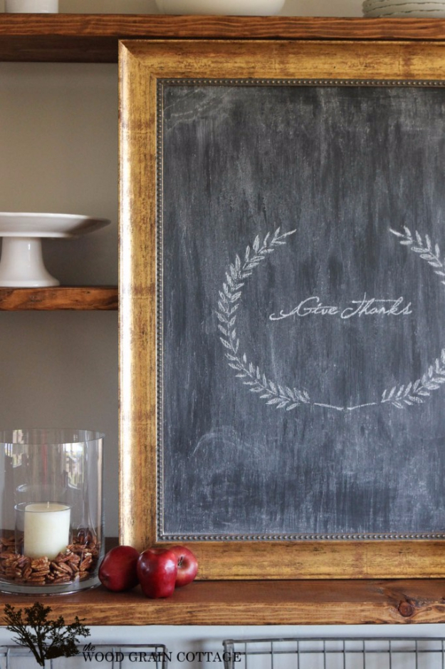 DIY Farmhouse Style Decor Ideas - Picture Frame Chalkboard - Rustic Ideas for Furniture, Paint Colors, Farm House Decoration for Living Room, Kitchen and Bedroom http://diyjoy.com/diy-farmhouse-decor-ideas