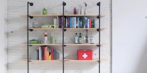 Urban Looking Pipe Shelving Is So Chic!