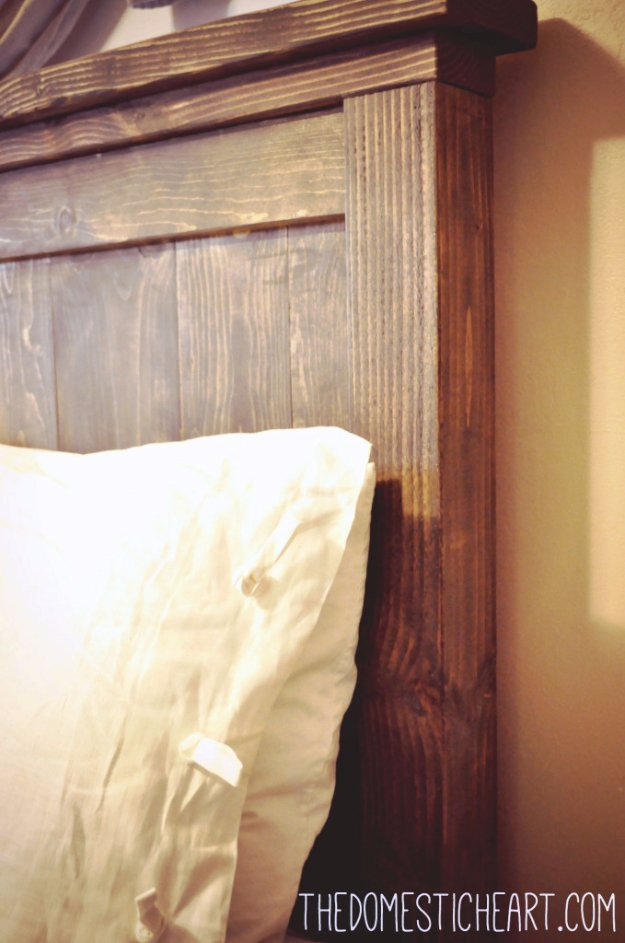 DIY Headboard Ideas - Pottery Barn Inspired Headboard - Easy and Cheap Do It Yourself Headboards - Upholstered, Wooden, Fabric Tufted, Rustic Pallet, Projects With Lights, Storage and More Step by Step Tutorials #diy #bedroom #furniture