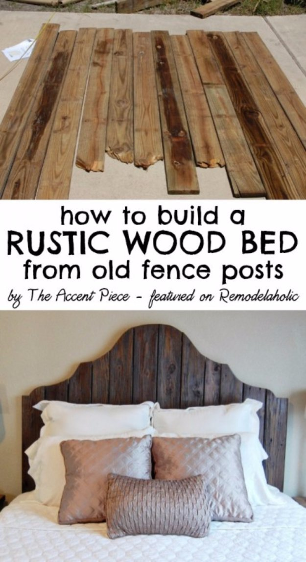 DIY Headboard Ideas - Reclaimed Wood Headboard Tutorial - Easy and Cheap Do It Yourself Headboards - Upholstered, Wooden, Fabric Tufted, Rustic Pallet, Projects With Lights, Storage and More Step by Step Tutorials #diy #bedroom #furniture