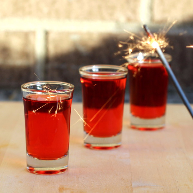 Best Fourth of July Food and Drink Ideas - Red Hot Shots - BBQ on the 4th with these Desserts, Recipes and Ideas for Healthy Appetizers, Party Trays, Easy Meals for a Crowd and Fun Drink Ideas