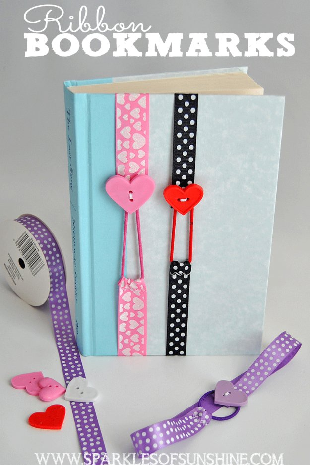 Easy Crafts To Make and Sell - Ribbon Bookmarks - Cool Homemade Craft Projects You Can Sell On Etsy, at Craft Fairs, Online and in Stores. Quick and Cheap DIY Ideas that Adults and Even Teens #craftstosell #diyideas #crafts