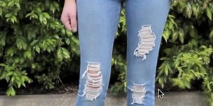 Salvage Your Old Jeans And Get That Ripped Distressed Look!