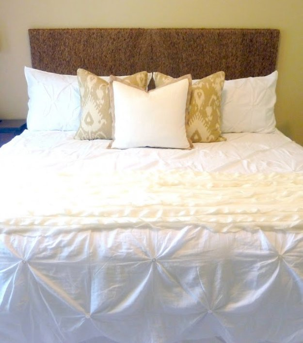 DIY Headboard Ideas - Rope Headboard Tutorial - Easy and Cheap Do It Yourself Headboards - Upholstered, Wooden, Fabric Tufted, Rustic Pallet, Projects With Lights, Storage and More Step by Step Tutorials #diy #bedroom #furniture
