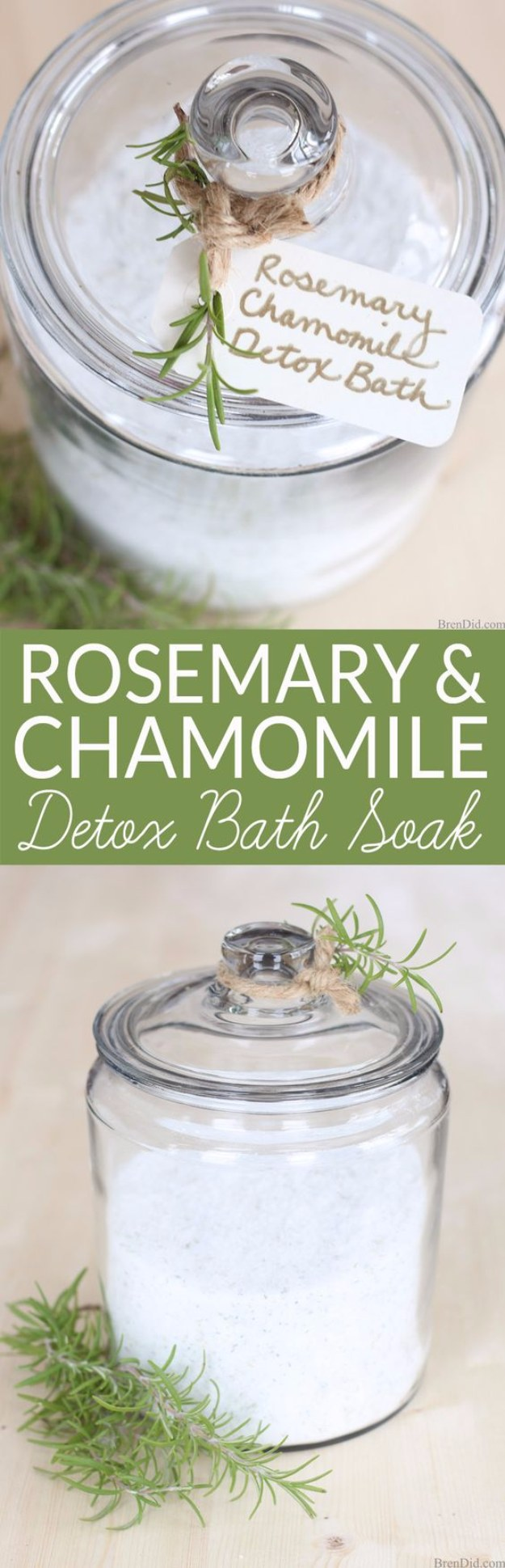 DIY Detox Recipes, Ideas and Tips - Rosemary Chamomile Detox Bath Soak - How to Detox Your Body, Brain and Skin for Health and Weight Loss. Detox Drinks, Waters, Teas, Wraps, Soup, Masks and Skincare Products You Can Make At Home