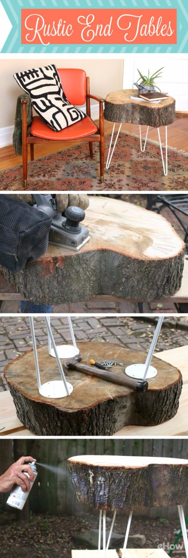 DIY End Tables with Step by Step Tutorials - Rustic End Table Tutorial - Cheap and Easy End Table Projects and Plans - Wood, Storage, Pallet, Crate, Modern and Rustic. Bedroom and Living Room Decor Ideas http://diyjoy.com/diy-end-tables