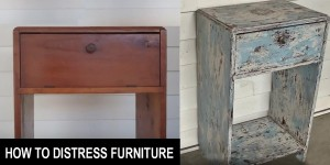 How to Get a Shabby Chic Distressed Paint Finish DIY!
