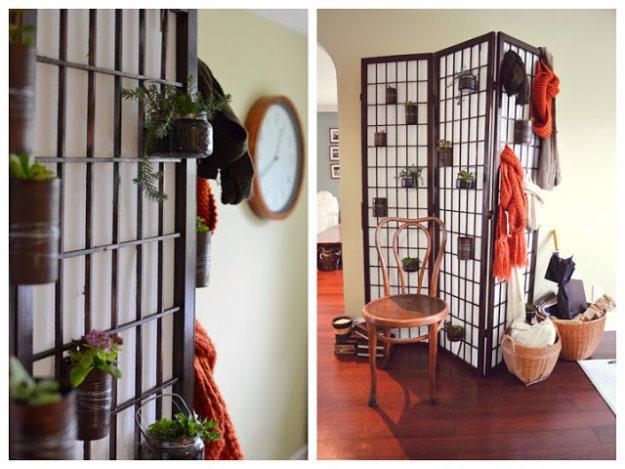 DIY Renters Decor Ideas - Shoji Screen Repurposed From An Old Room Divider - Cool DIY Projects for Those Renting Aparments, Condos or Dorm Rooms - Easy Temporary Wall Art, Contact Paper, Washi Tape and Shelves to Make at Home #diyhomedecor #diyideas