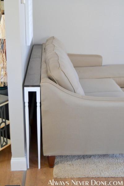 38 brilliant diy living room decor ideas for Sofa table tutorial