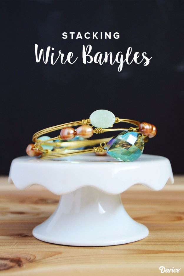 Easy Crafts To Make and Sell - Stacked Wire Bangles - Cool Homemade Craft Projects You Can Sell On Etsy, at Craft Fairs, Online and in Stores. Quick and Cheap DIY Ideas that Adults and Even Teens #craftstosell #diyideas #crafts