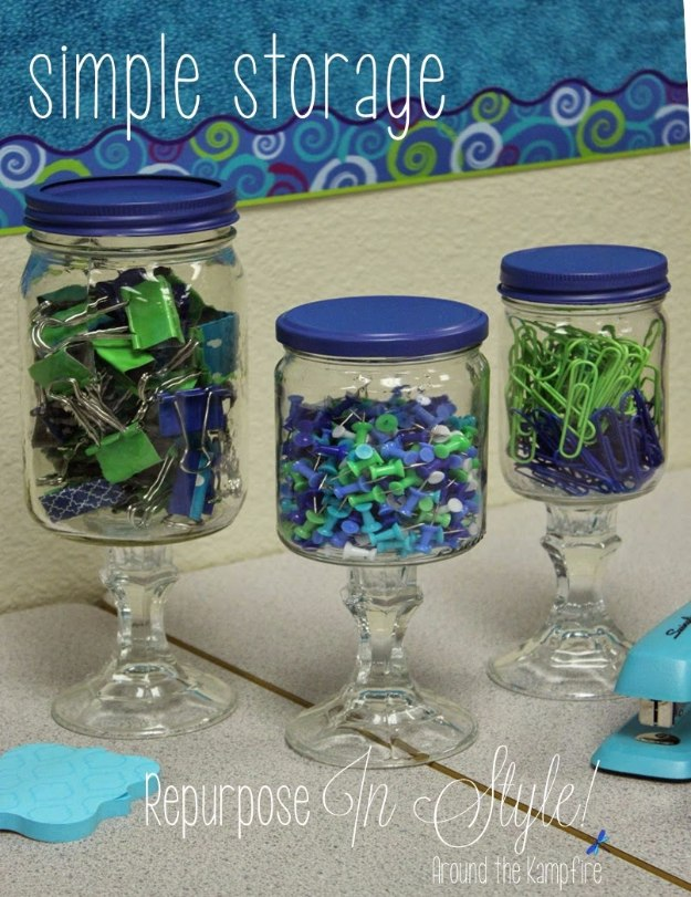 DIY Home Office Decor Ideas - Stylish Apothecary Jars - Do It Yourself Desks, Tables, Wall Art, Chairs, Rugs, Seating and Desk Accessories for Your Home Office #office #diydecor #diy
