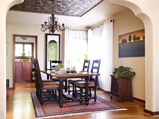 DIY Dining Room Decor Ideas - Tin Ceiling Tiles For Your Dining Room - Cool DIY Projects for Table, Chairs, Decorations, Wall Art, Bench Plans, Storage, Buffet, Hutch and Lighting Tutorials
