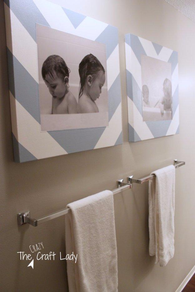DIY Bathroom Decor Ideas - Tub Time Photos and DIY Canvas Prints - Cool Do It Yourself Bath Ideas on A Budget, Rustic Bathroom Fixtures, Creative Wall Art, Rugs mason jar idea bath diy