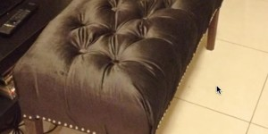 Here's A Creative Idea for That Special Fabric You've Been Holding Onto – Make Your Own Tufted Ottoman!